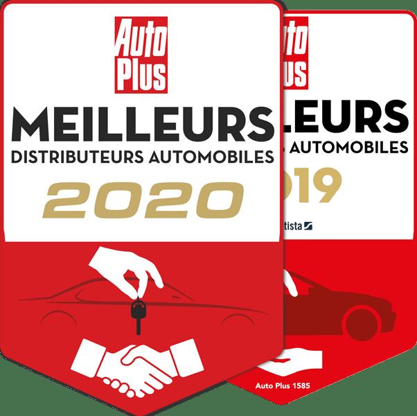 Logo Meilleur Distributeur de France 2021, 2020 et 2019 Garage Gros